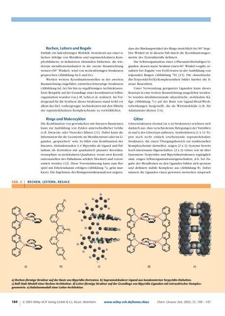 Metallo-supramolekulare Chemie