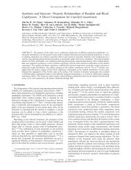 Synthesis and Structure-Property Relationships of Random and ...