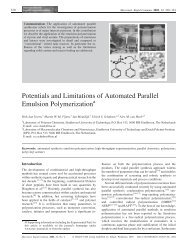 Potentials and Limitations of Automated Parallel Emulsion ...