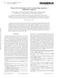 Phenyl-1H-[1,2,3]triazoles as New Cyclometalating Ligands for ...
