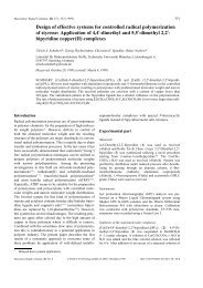Design of effective systems for controlled radical polymerization of ...