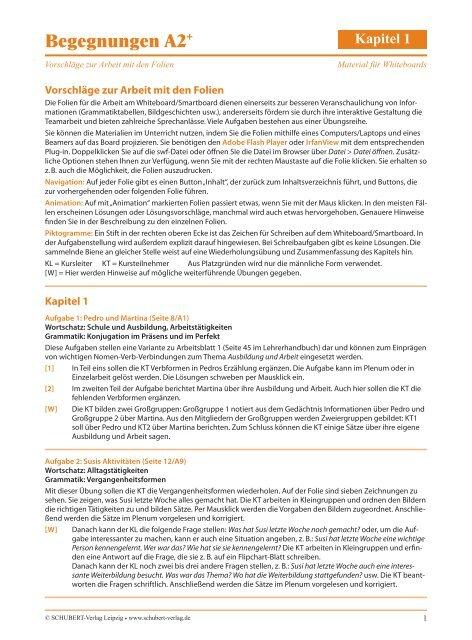 Begegnungen A2 Schubert Verlag