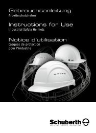 Gebrauchsanleitung Instructions for Use Notice d ... - Schuberth