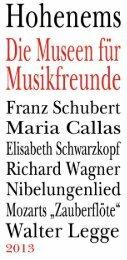 Folder »Museen für Musikfreunde - Schubertiade