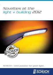 Novelties at the light + building 2012 - Schuch