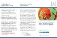 Informationsflyer MRSA - in der Schüchtermann-Klinik