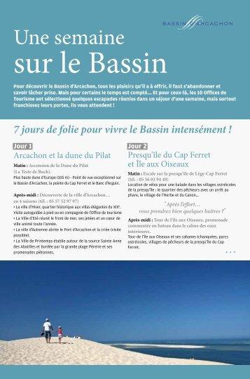 Une semaine sur le Bassin - Bassin d'Arcachon.com
