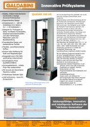 Quasar 100 kN - Schütz + Licht Prüftechnik GmbH