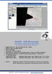 opens USB Microscope PDF - Schütz + Licht Prüftechnik GmbH