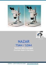 NAZAR TSM + SZM Microscope open as PDF - Schütz + Licht ...