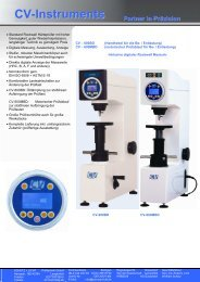 CV-600BD + 600MBD Digitaler Rockwell Härteprüfer