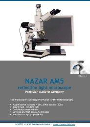 NAZAR AM5 microscope opens PDF - Schütz + Licht Prüftechnik ...