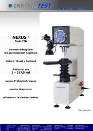 NEXUS 700 kraftgeregelter Universal-Haertepruefer HV HB HR
