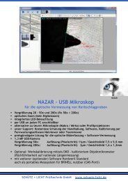 NAZAR USB Mikroskop - Schütz + Licht Prüftechnik GmbH