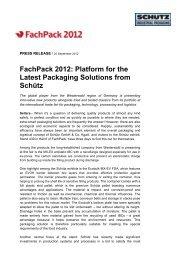 FachPack 2012 - Schutz GmbH & Co. KGaA