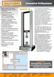 Quasar 25 kN - Schütz + Licht Prüftechnik GmbH