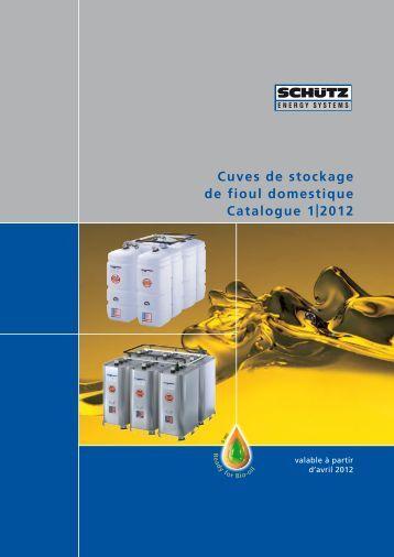 Cuves de stockage de fioul domestique Catalogue 1 2012
