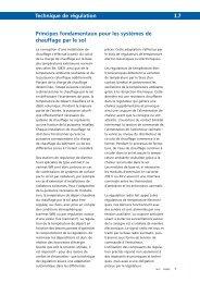 Principes fondamentaux pour les systèmes de chauffage par le sol ...