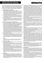 general terms and conditions for purchasing and acquisition