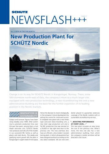 NEWSFLASH+++1/2011 - Schutz GmbH & Co. KGaA