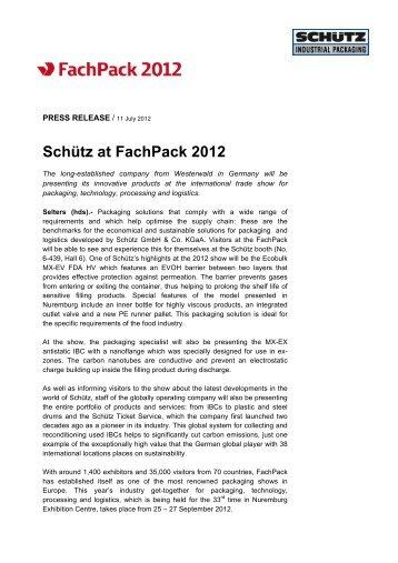 Schütz at FachPack 2012 - Schutz GmbH & Co. KGaA