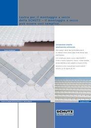 Lastra per il montaggio a secco della SCHÃœTZ - Schutz GmbH & Co ...