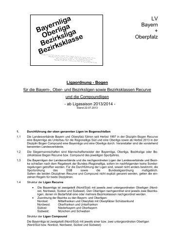 Ligaordnung für die Bayern- und nachfolgenden Ligen / Bogen