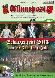 Schützenfe–t 2013 - St. Peter und Paul Schützenbruderschaft ...