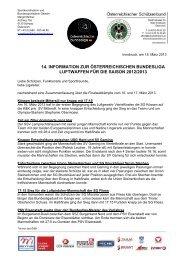 14. information zur österreichischen bundesliga luftwaffen für ... - ÖSB