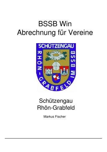 BSSB Win Abrechnung für Vereine - Schützengau Rhön-Grabfeld