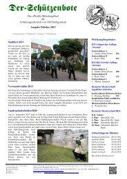 Das offizielle Mitteilungsblatt der Schützengesellschaft von 1305 ...