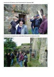 Eine Delegation Oedheimer Kanoniere auf der Festung ...