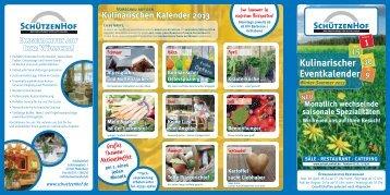Kulinarischer Eventkalender - Schützenhof Paderborn