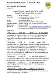 Ausschreibung Kreispokal 2005 - Schützenkreis 93