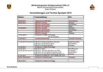 Veranstaltungen und Termine Sportjahr 2011