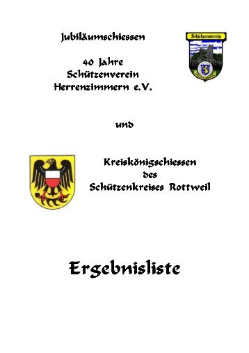 Ergebnisliste Ergebnisliste - Schützenkreis Rottweil