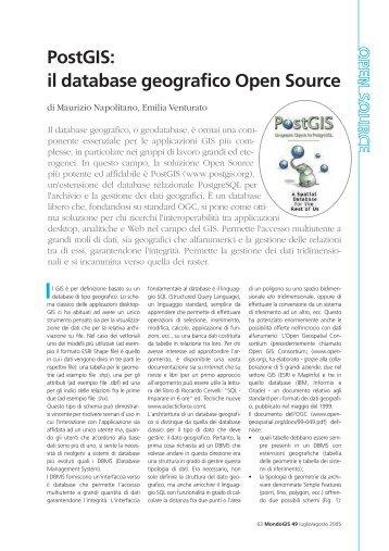 PostGIS: il database geografico Open Source - Faunalia