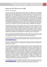 Rapport annuel 2012 / Musée suisse du tir (SMB) Directrice ...