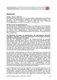 Medientext - Schweizerisches Schützenmuseum Bern