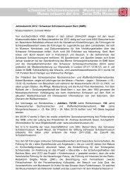 Jahresbericht_2012 - Schweizerisches Schützenmuseum Bern