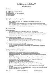 Geschäftsordnung - Schützenverein Eula eV