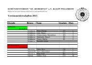 Vereinsmeisterschaften 2013 - Schützenverein St. Hubertus eV ...