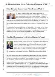 Ausgabe 07/2011 - Schützenverein St. Hubertus eV Klein-Welzheim