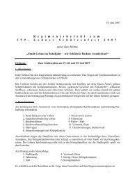 Regimentsbefehl 2007 - Schützenverein Lohne eV von 1608