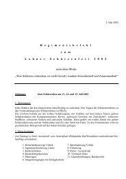 regimentsbefehl 2002.pdf - Schützenverein Lohne eV von 1608