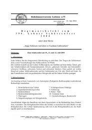 regimentsbefehl 2004.pdf - Schützenverein Lohne eV von 1608