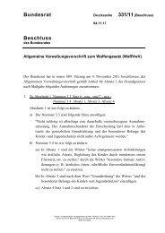 Allgemeine Verwaltungsvorschrift zum Waffengesetz