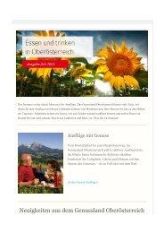 Neuigkeiten aus dem Genussland Oberösterreich