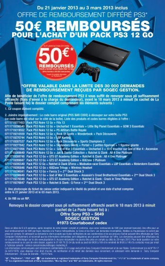 FLYER PS3 100x160 - PlayStation