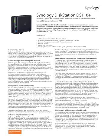 Synology DiskStation DS110+ - Rue du Commerce